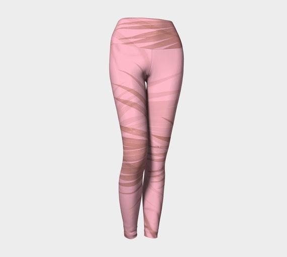 Blush Palms Women's Yoga Leggings