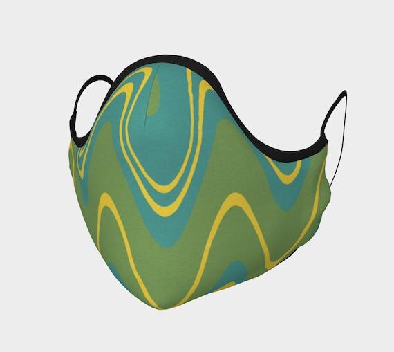 Wavy Face Mask, Retro look face mask, Washable Cloth Face Mask
