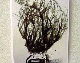 Ink bottle print