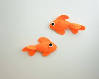 Goldfish Felt Magnets