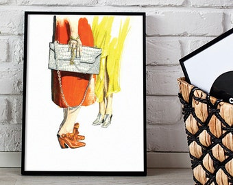 fashion illustration, wall decor, fashion print - 3 sizes available Giclee print