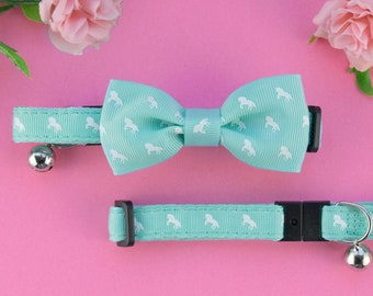 e56455a3f719 Cat Bow Tie and Collar Set | Vegan | Mint Green