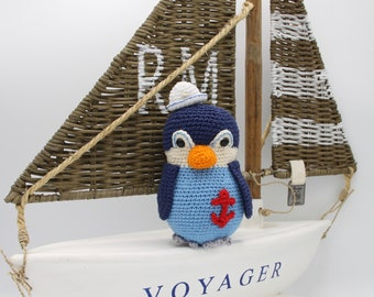 Cute crochet Sailor Penquin