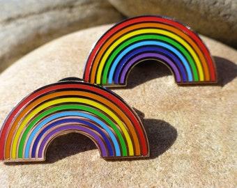 Rainbow NHS hope Enamel Pin Badge | Hard Enamel Pin Badge | Rainbow Badge Gift