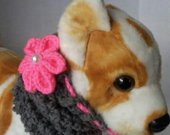 Small Dog Snood, Small Dog Cowl, Dog neckwarmer + Free Shipping