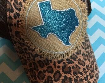 Texas Leopard Trucker Hat (Brown)