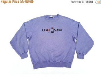 e8792cab3b SALE Cerruti Sport Embroidered Vintage Sweatshirt Faded