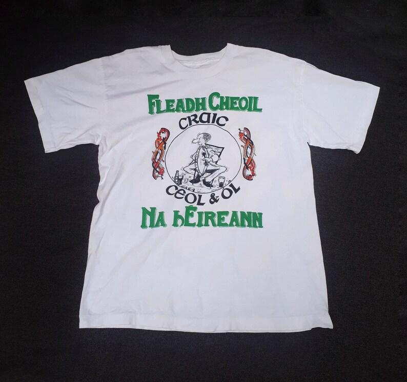 VINTAGE Irish Fleadh Cheoil na hEireann Shirt Music Festival Shirt