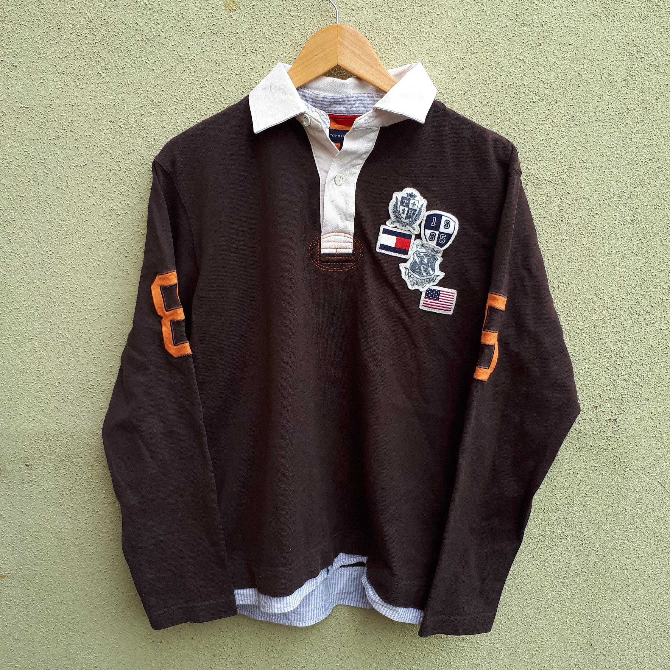 39b12e6ec Tommy Hilfiger Shirt Tommy Hilfiger 85 Long Sleeve Polo Rugby | Etsy