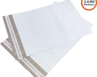 "100 Poly Mailers 12"" x 15.5"" Self Sealing Shipping Envelope 2.4Mil"