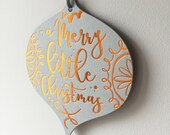 Copper Christmas Card - Hanging Decoration Design - A Merry Little Christmas