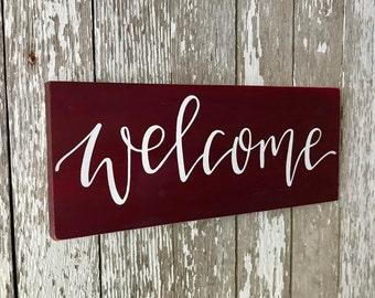 Welcome Custom Wood Sign