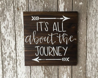 It's All About the Journey Custom Wood Sign