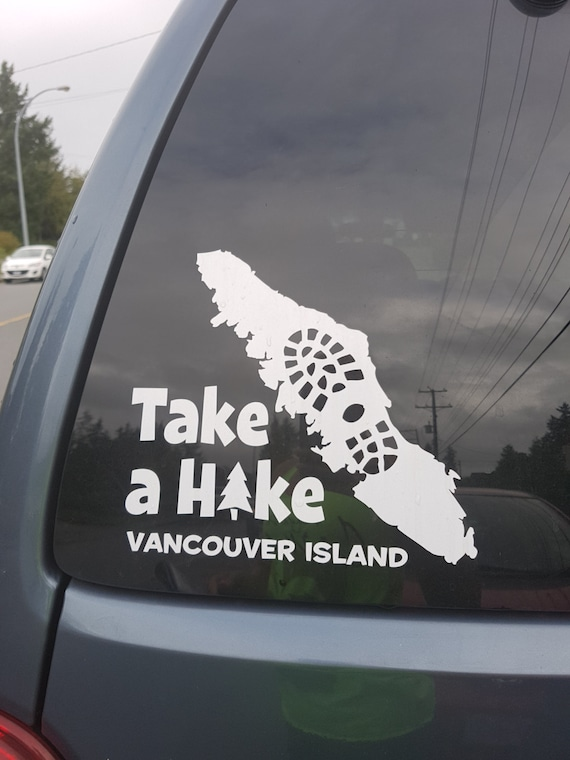 Take a hike vancouver island sticker