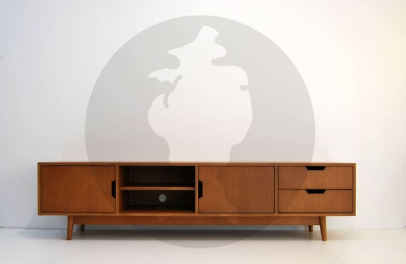 new product 08a1c bc862 Mid Century Media Console / Tv Stand / Tv Unit / Low Sideboard /  Scandinavian / Design / Retro Console