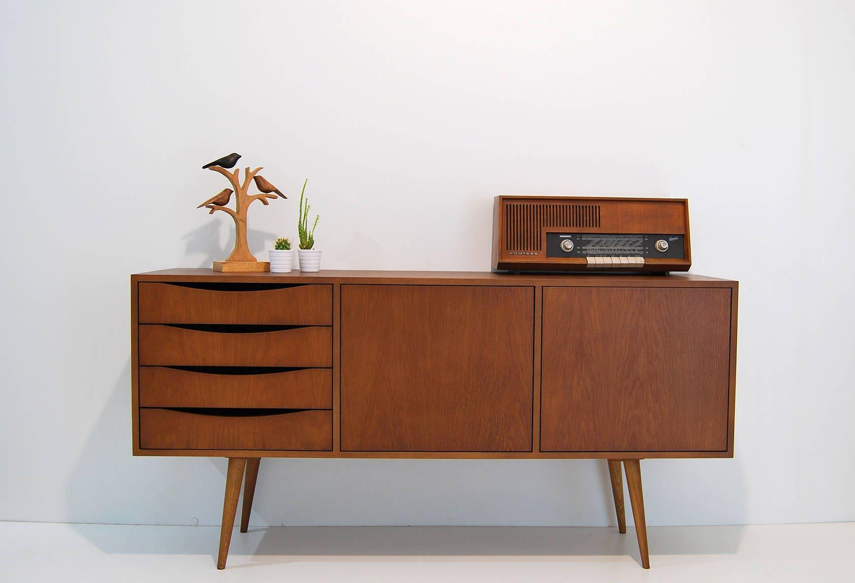 moderne mid century sideboard wohnzimmer m bel konsole. Black Bedroom Furniture Sets. Home Design Ideas