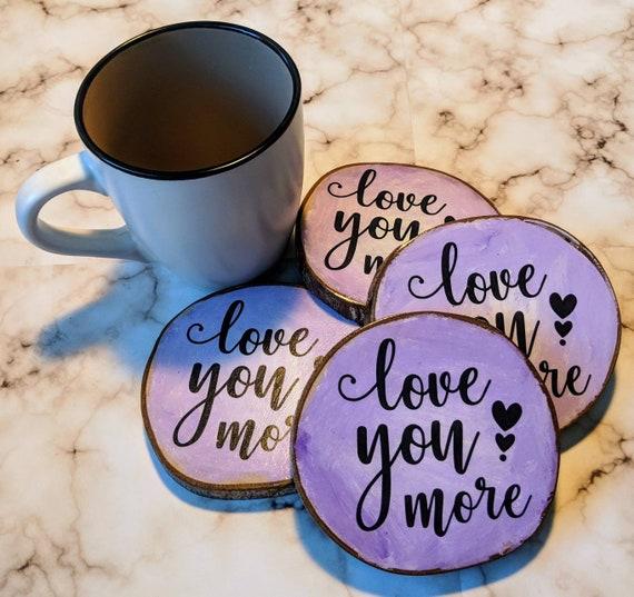 Vous aimez plus de verres, Vintage, décoration, maison, amour, cuisine, accessoires de boire, en amour, cadeau de mariage, cadeau de fiançailles