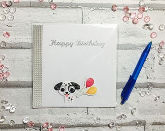 Puppy Love Birthday Card Happy Dog Lovers Handmade Childrens Cards For Kids