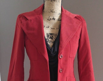 Vintage Bronson of California fitted Red Blazer Jacket