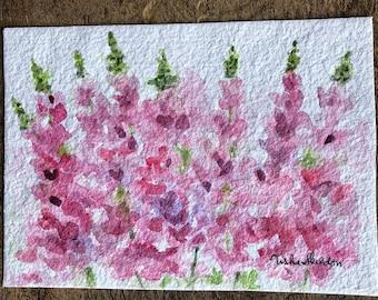 An Original Watercolor, Maine Lupine