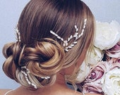 Wedding Hair Pins Gold Bridal Hairpiece pearl Bridal Hair Pins Gold Bridal Headpiece gold Bridal hair pins pearl bridal head piece gold