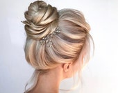 Crystal Hair Pins Bridal Hair Pins Wedding Hair Pins Silver Hair Pins Gold Hair Pins Bridal Bobby Pins Minimal Hair Pins Headpiece