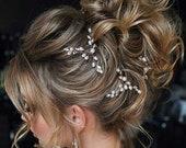 Bridal hair piece Wedding Hair Accessories Bridal hair comb Wedding hair piece Bridal headpiece Wedding hair pins Bridal hair pins silver