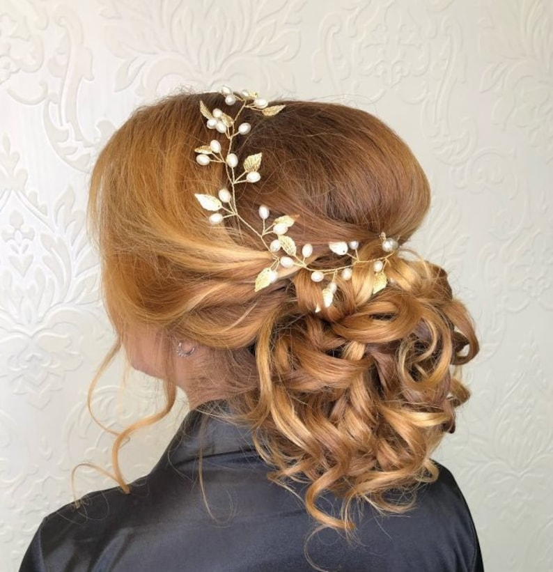 Bridal hair vine leaves Hair vine wedding leaf Gold Hair Vine Wedding Hair vine Leaf Vine Bridal Hairpiece Gold Wedding Hair vine bridal