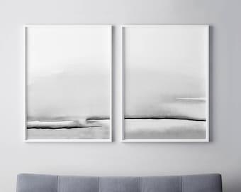 Gray Wall Art Etsy