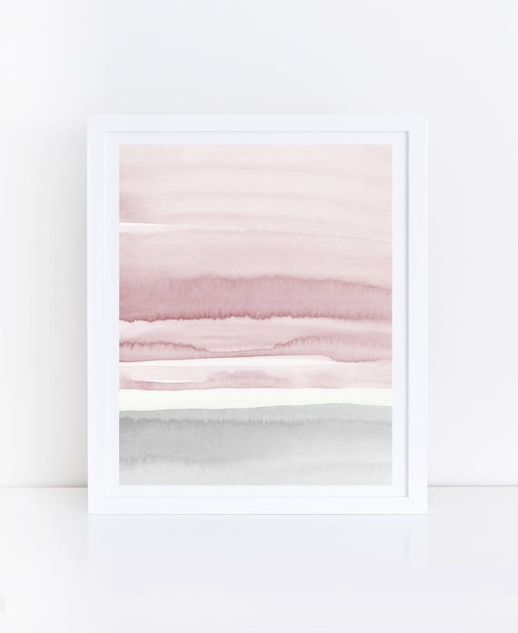 Pink And Gray Abstract Art