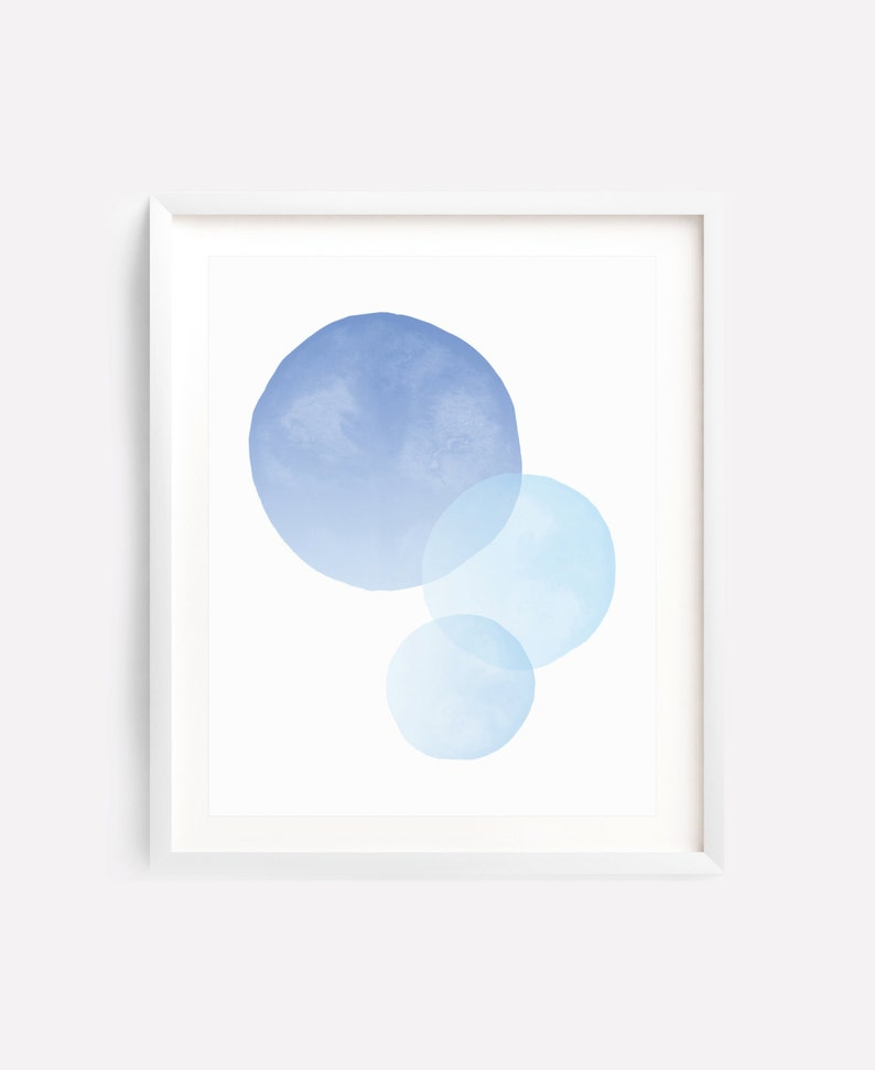 photograph relating to Printable Circle called Circle Artwork Print, Blue Printable Artwork, Circle Wall Artwork, Blue Nursery Print, Blue Watercolor Artwork, Pastel Artwork, Circles, Summary Artwork, Obtain