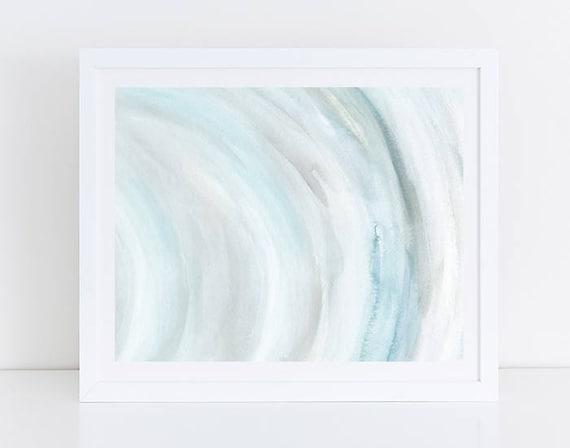 Printable Abstract Art Blue and Gray Wall Art Horizontal   Etsy