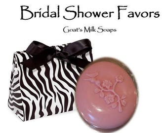 Bridal Shower Favors; Goat's Milk Soap Favors; Soap Favors; Free Shipping Soap (Domestic Only)