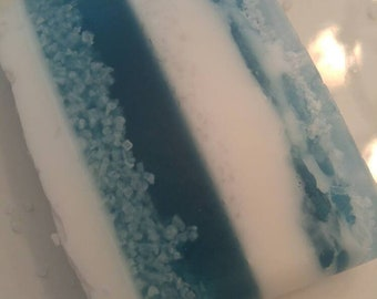 Fresh Ocean Soap Bar; Free Shipping Domestic Only; Goats Milk; Glycerin; Sea Salt