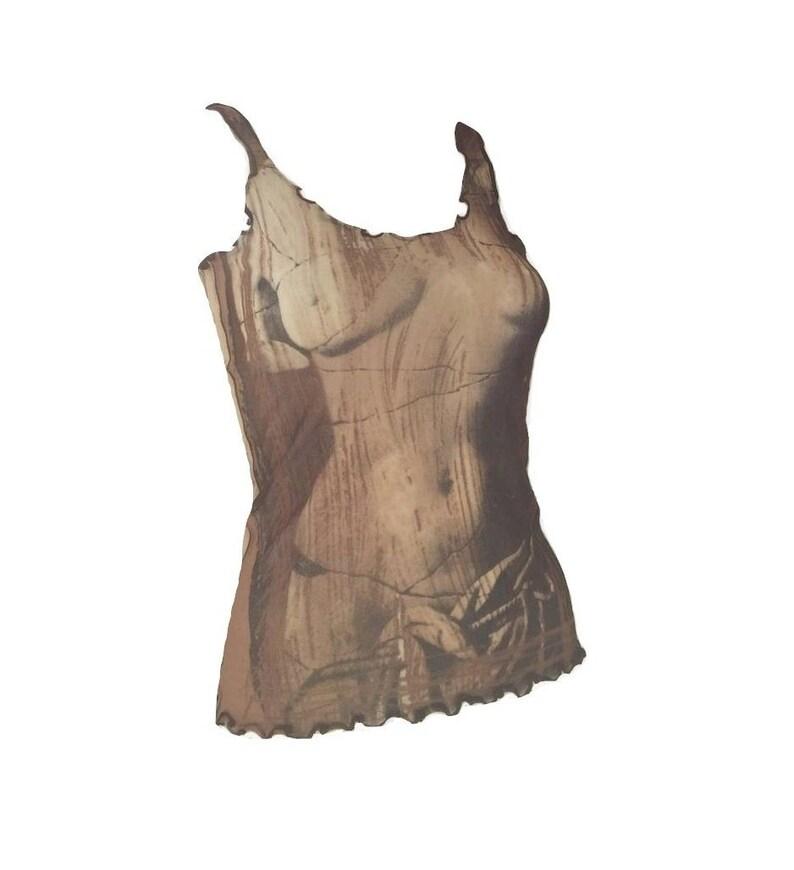 e876e7975a0 Sold out JEAN PAUL GAULTIER Venus de Milo Mesh Tank Top   Etsy