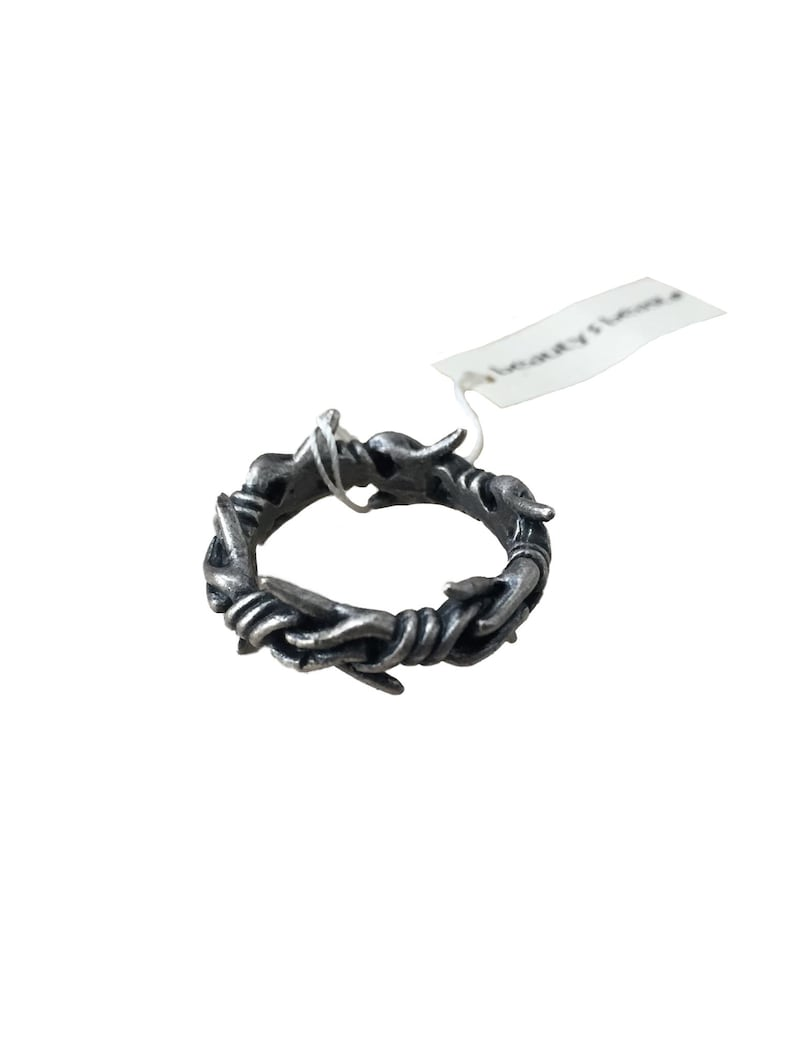 BEAUTY:BEAST Barbed Wire Sterling Silver Ring