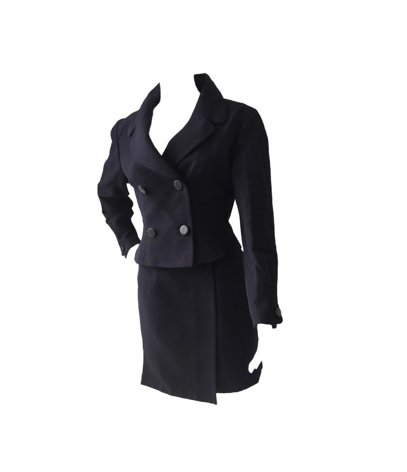 JUNKO SHIMIDA Blue Navy 2 piece-suit Blazer and Skirt