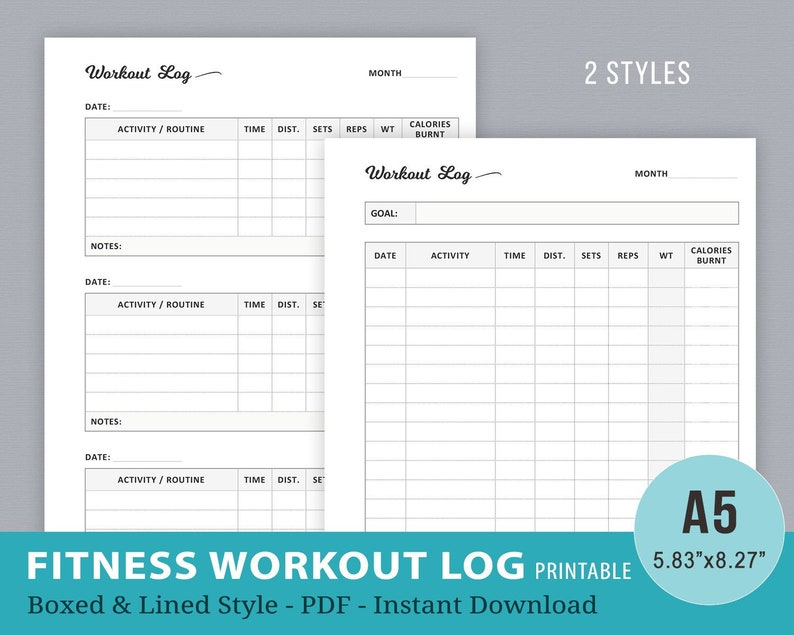 photo relating to Printable Fitness Log identify Work out Log, Conditioning Log, Health Log Printable, A5 Planner Inserts, Exercise Diet regime Tracker, Filofax, Bodyweight Decline Magazine, Instantaneous Obtain