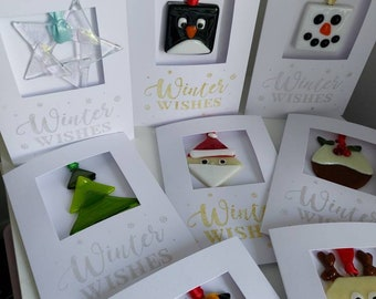 2 in 1 Christmas Card and Fused Glass Ornament