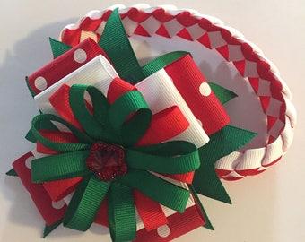 Christmas braided headband