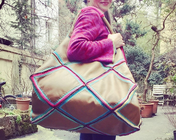 "XXL Hippie Bag ""Happy weekend"""