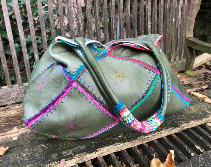 "XL Hippie Bag ""Happy weekend"""