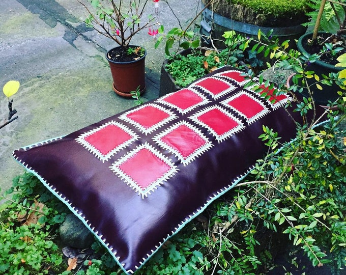 XXL leather pillow/ cushion