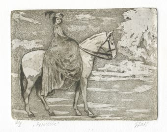 "Original Etching ""Princess"""