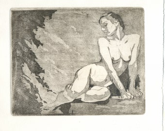 "Original Etching ""Sphinx II"""