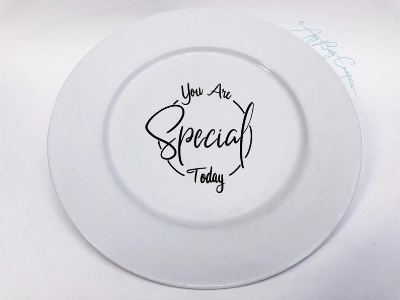 Special Occasion Plate  Hand Lettered Hand Painted Custom image 0