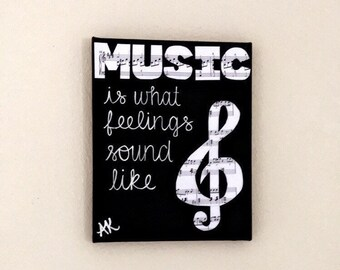 Musical Sign Music Quote Sheet Treble Clef Gift For Singer Musician Lover
