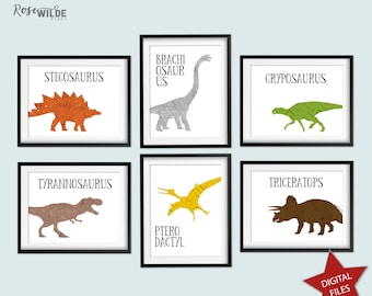 photo relating to Printable Dinosaur Pictures With Names identified as Dinosaur printables Etsy