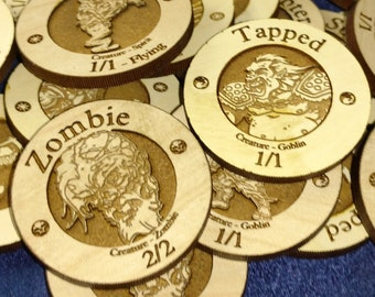 Wooden Creature Tokens for Magic the Gathering • Our Picks OR You make your own creature token