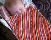 Andean baby blanket,cambaya blanket,gender neutral,baby blanket,Peruvian blanket,baby wrap,burrito,artisan swaddle blanket,baby gift